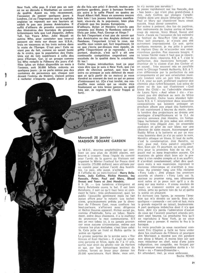 New York (Madison Square Garden) : 28 janvier 1970  Best_210