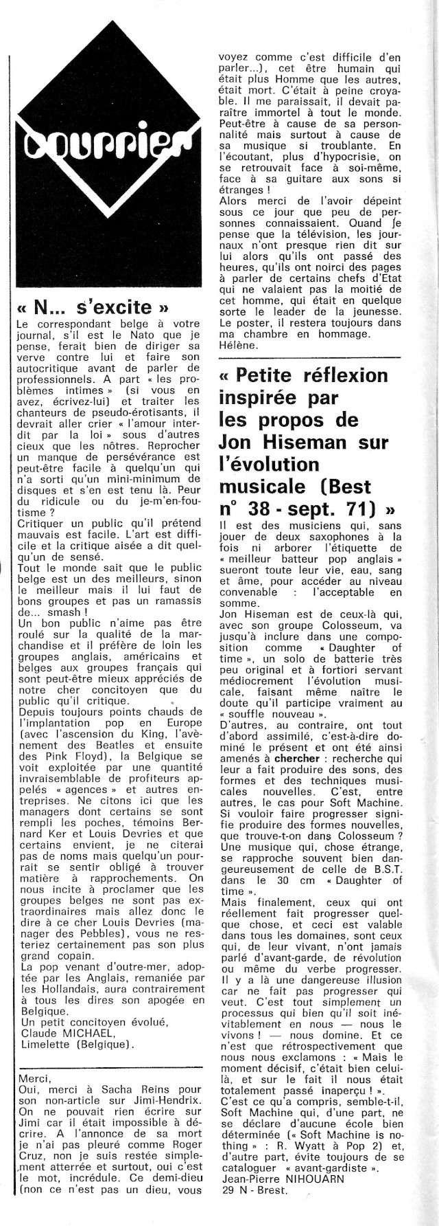 Jimi Hendrix dans la presse musicale française des années 60, 70 & 80 - Page 3 Best_414