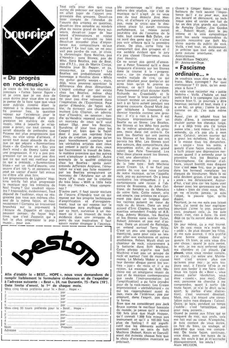 Jimi Hendrix dans la presse musicale française des années 60, 70 & 80 - Page 3 Best_416