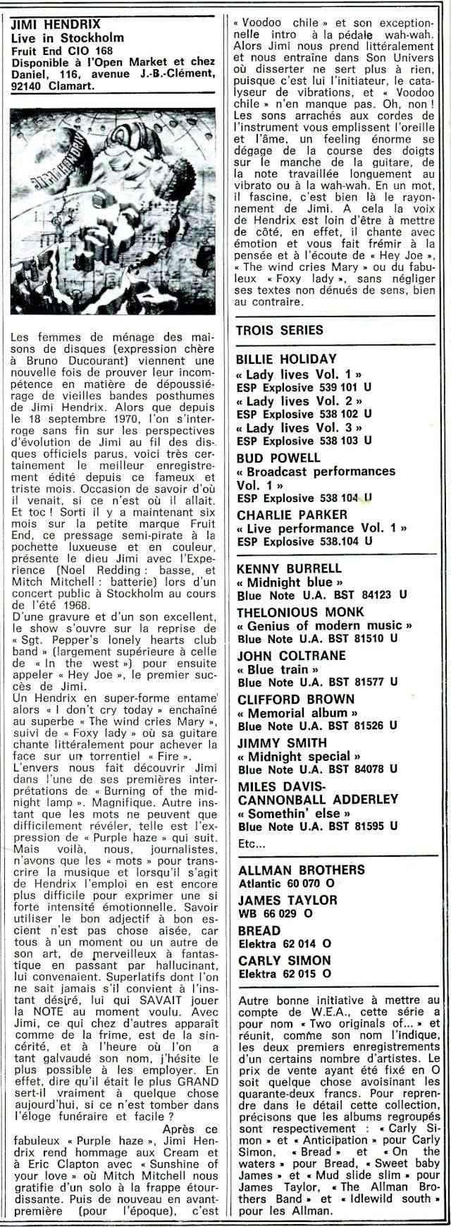 Jimi Hendrix dans la presse musicale française des années 60, 70 & 80 - Page 4 Extra_32