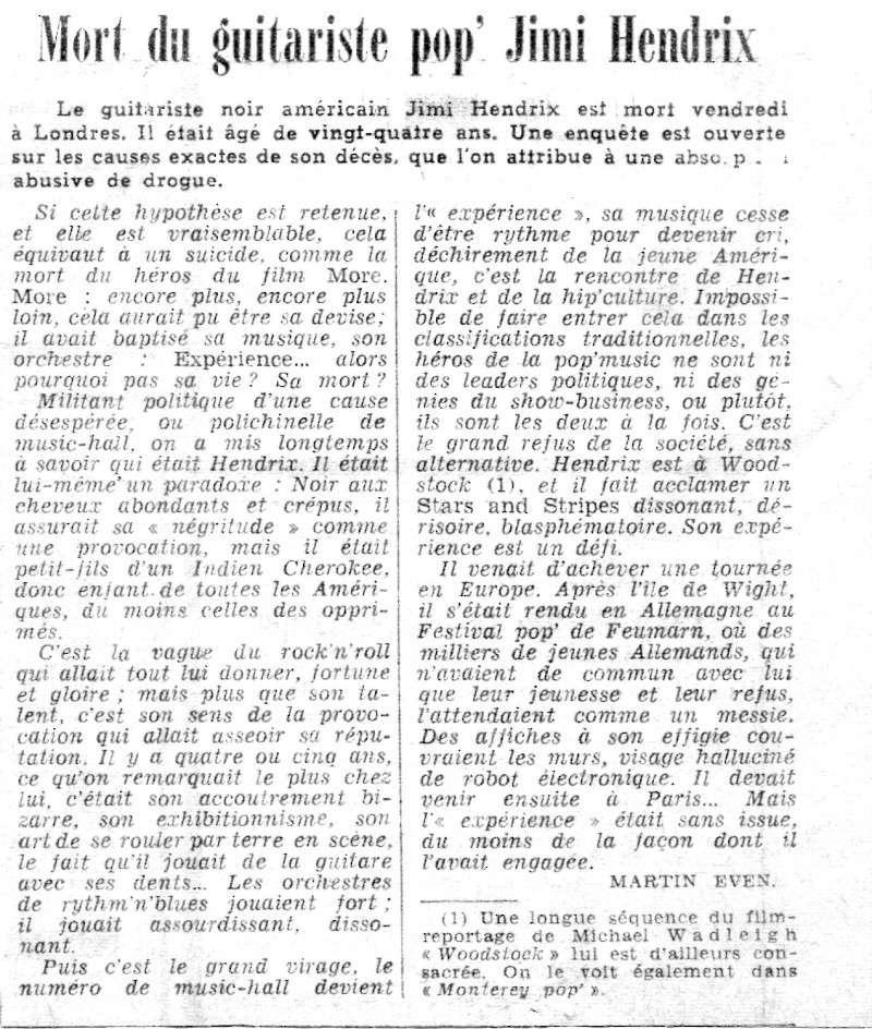 Jimi Hendrix dans la presse musicale française des années 60, 70 & 80 Le_mon10