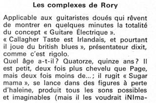 Rory Gallagher dans la presse française R37-0113