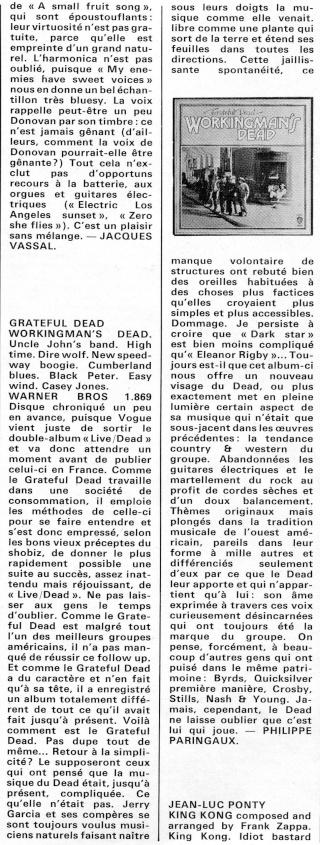 Grateful Dead - Workingman's Dead (1970) R42-0511