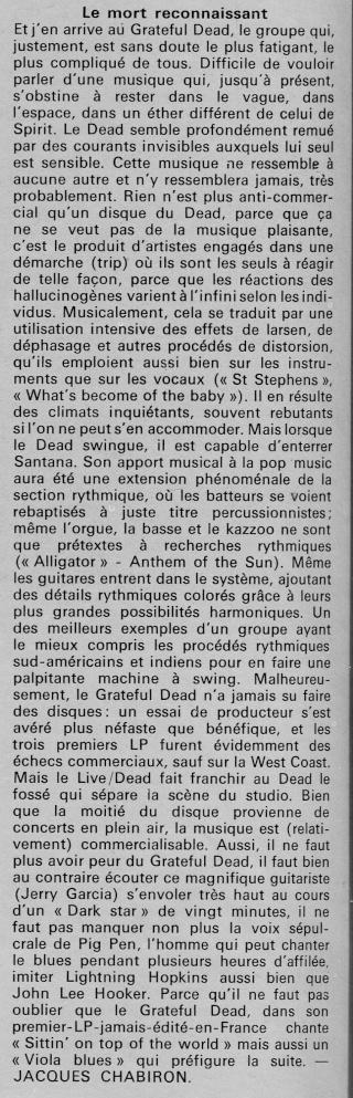 Grateful Dead - Presse Francophone R42-0512