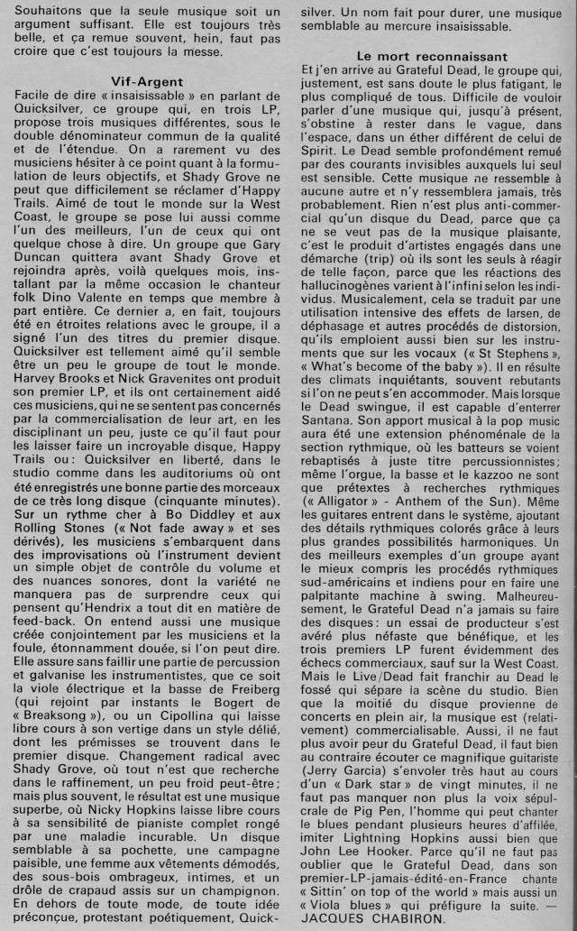 Quicksilver Messenger Service : Happy Trails (1969) R42-0513