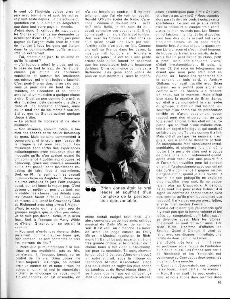 Les Rolling Stones dans la presse française R42-0516