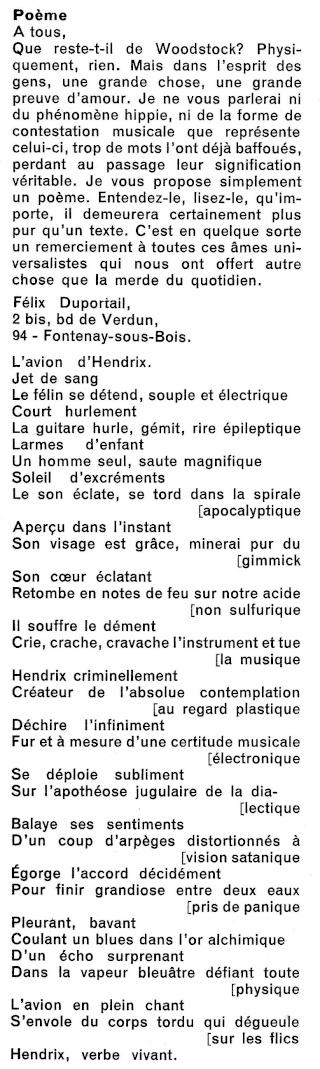 Jimi Hendrix dans la presse musicale française des années 60, 70 & 80 R43-0613