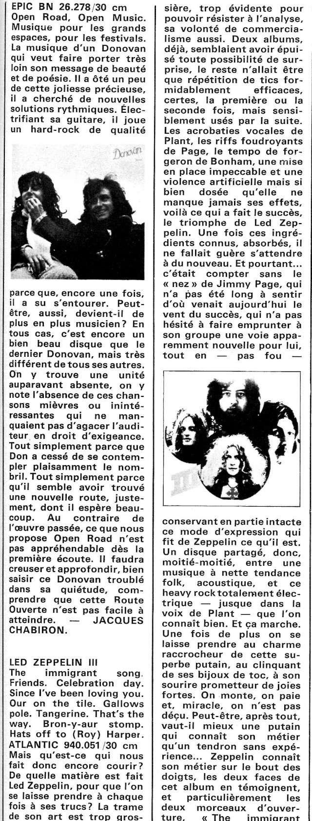 Led Zeppelin III (1970) R45-0922