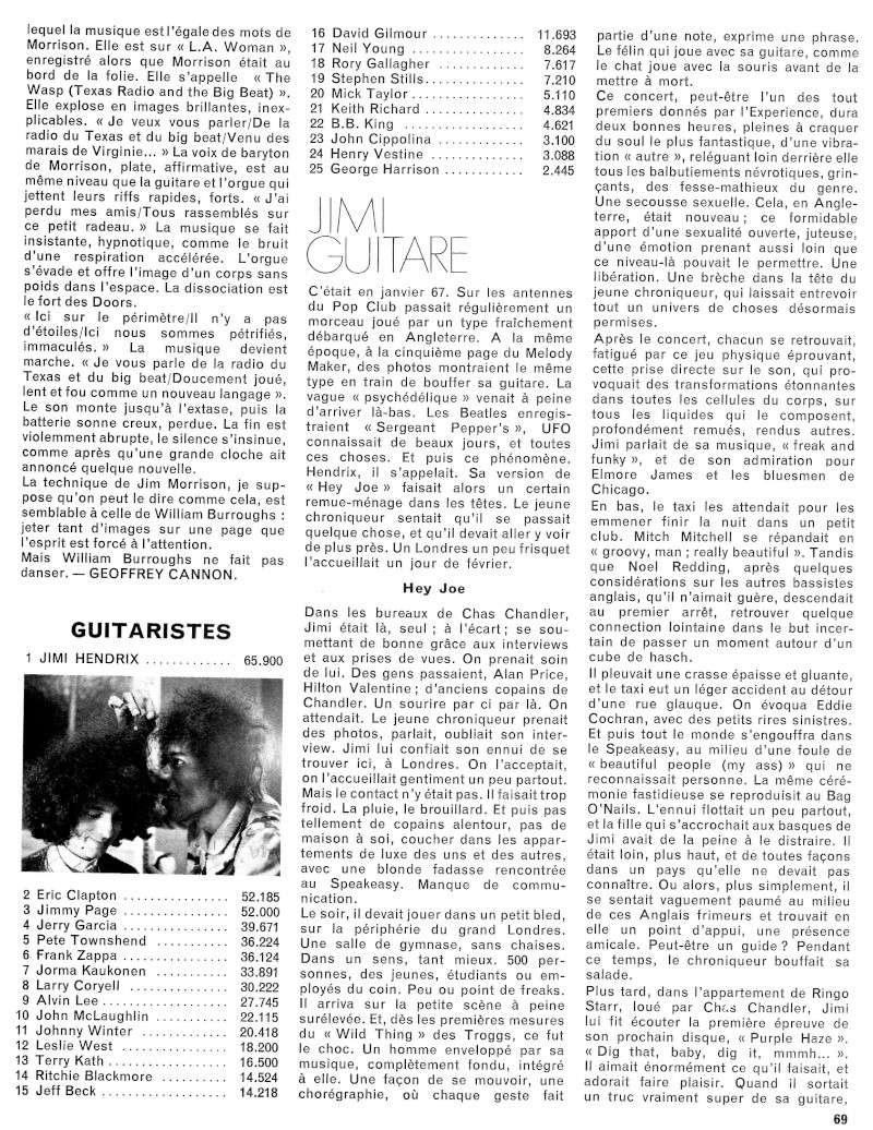 Jimi Hendrix dans la presse musicale française des années 60, 70 & 80 - Page 3 Rnf64-12