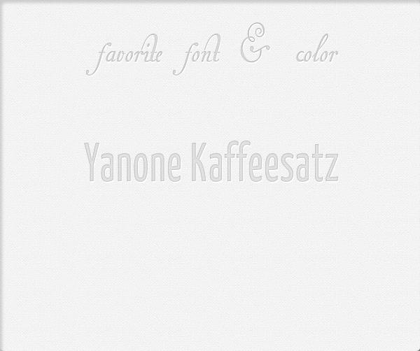 Favorite font & color Fav-co10