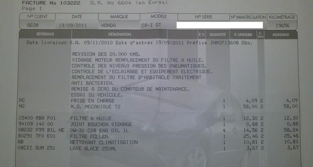 [ENTRETIEN][SERVICE A - B] La Révision ou le Service Annuel - Page 5 Factur10