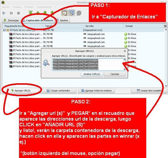 Manual para descargar archivos desde JDownloader 110