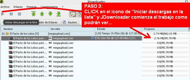 Manual para descargar archivos desde JDownloader 210