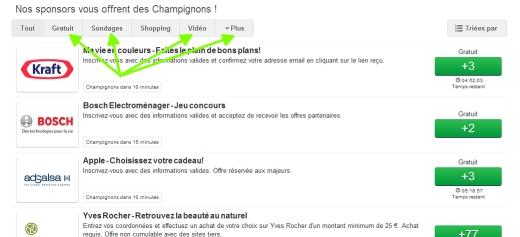 """Les Champignons - rubrique """"Gratuit"""" Clipbo16"""