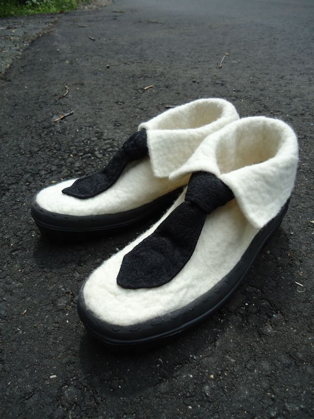 Schuhe schwarz-weiss Dsc01327
