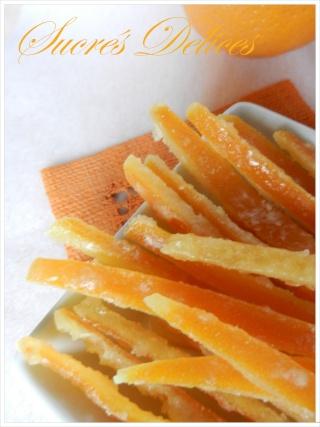 écorces d'oranges confites et orangettes Orange10