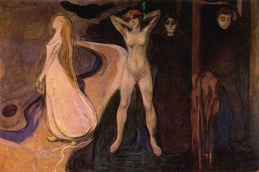 Le Età della Donna (Gustav Klimt) Munch-10