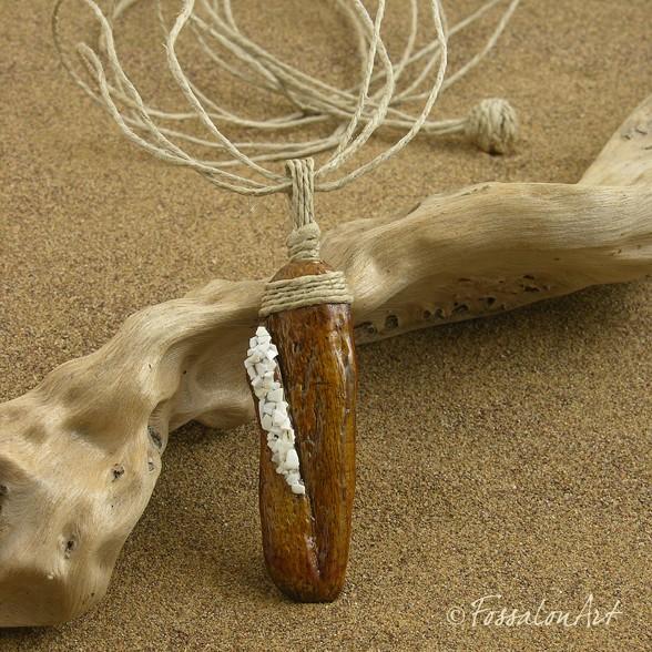 Ciondoli legno e conchiglie Ci_07810