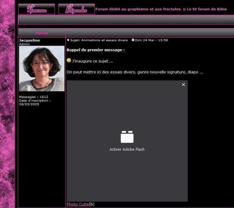 Forum passé en HTTPS Flash10