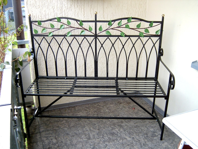 Weitere selbst gebaute Metallobjekte Garten13