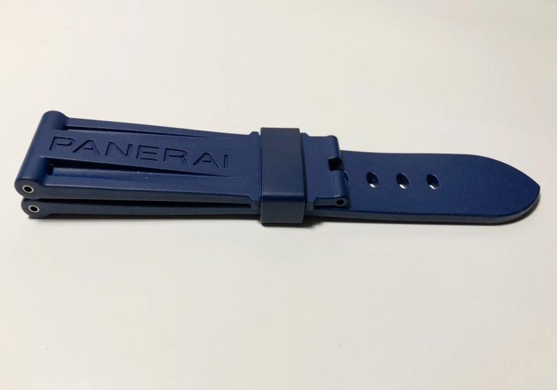 panerai - [Vends] PANERAI bracelet caoutchouc bleu foncé Fullsi52
