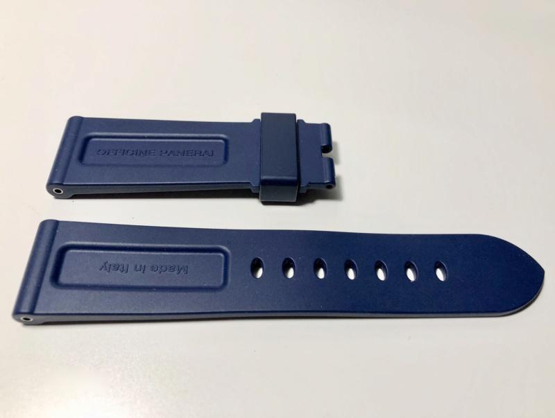 panerai - [Vends] PANERAI bracelet caoutchouc bleu foncé Fullsi53