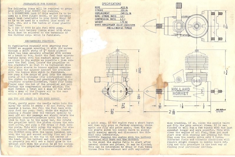 Cox Engine Tests/reviews ONLY Hollan11
