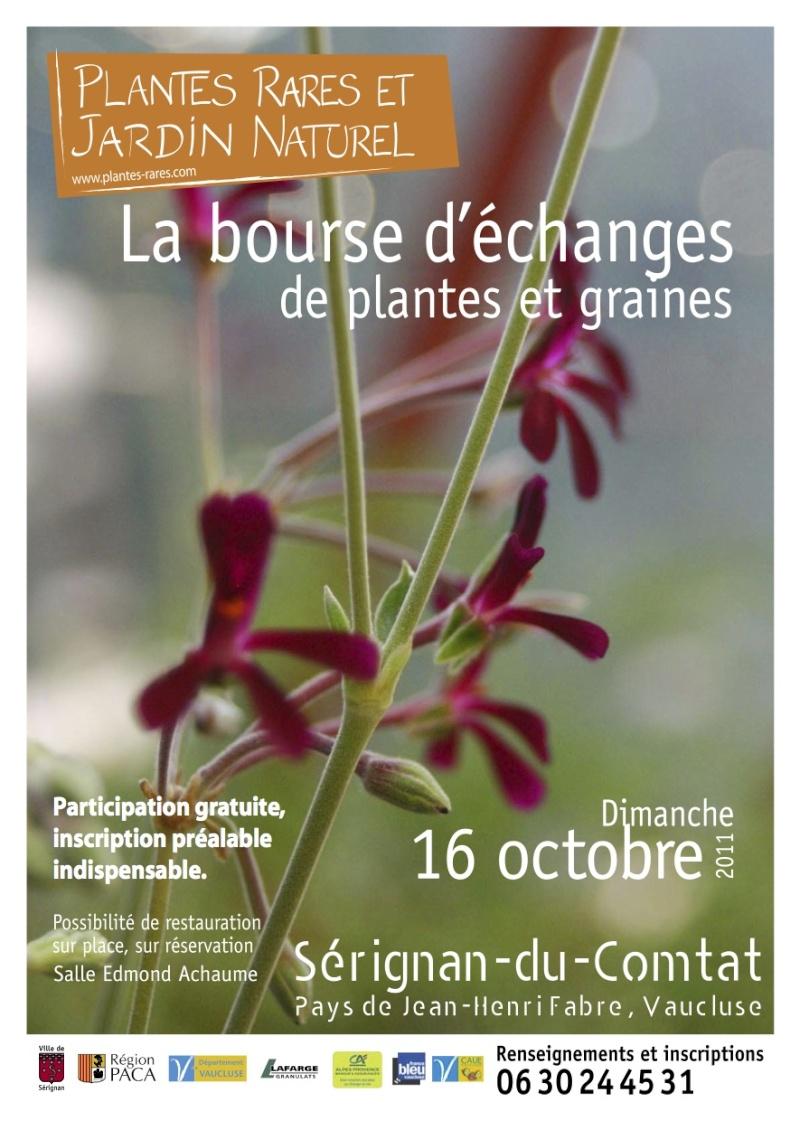 Bourse d'échange plantes rares et graines   Dimanche 16 octobre Tracts10