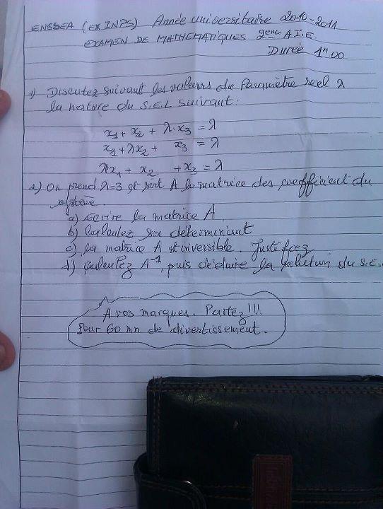 sujet de math prob dans l'exo 30046111