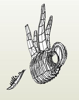 Bauanleitungen für / mit Pepakura Alien_13