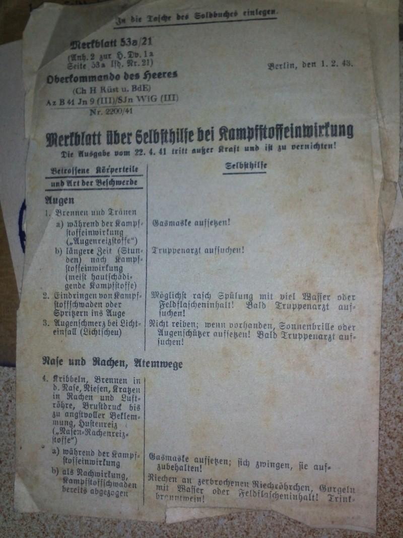 Traduction Soldbuch 1810