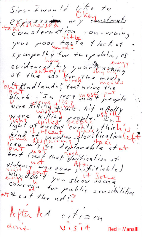 Handwriting, published works, phrases etc. Citize13