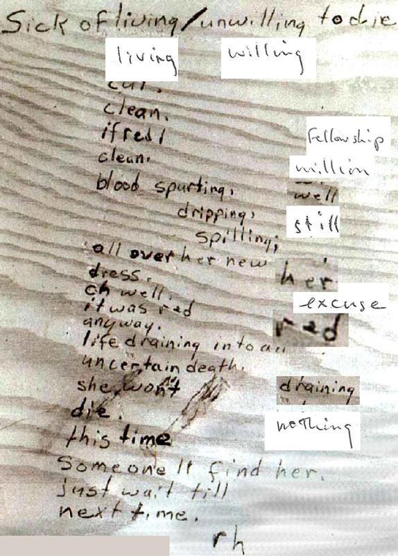 Handwriting, published works, phrases etc. Deskto10