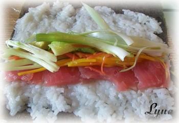 Sushis oeil de dragon et sushis au thon Sushis12
