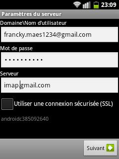 Parametrage compte gmail et market comment faire  Screen14