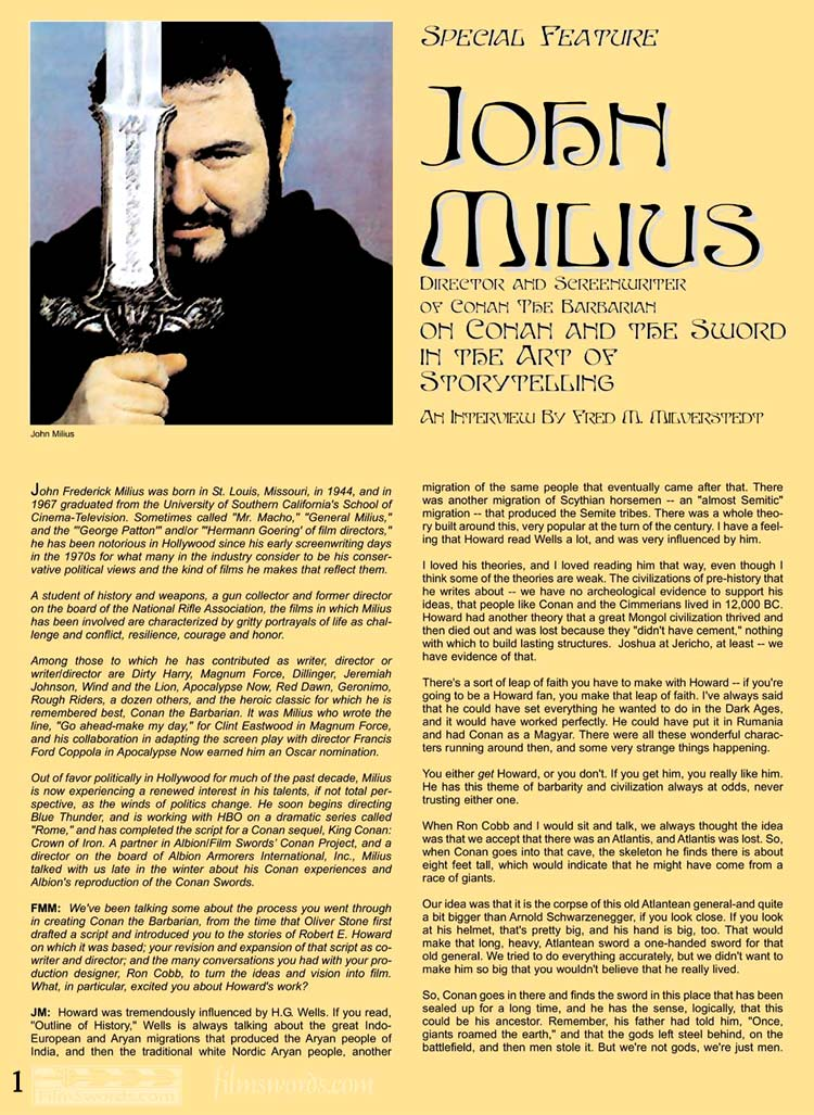 """Conan """"The Sword in the Art of Storytelling"""" missing page Milius10"""