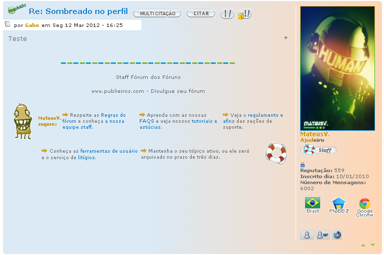 Cor do lado do perfil do forum Tutorx10