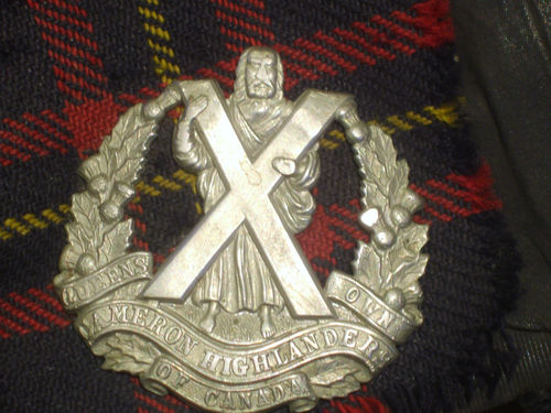 Queen's Own Cameron Highlanders glengarry Sf10