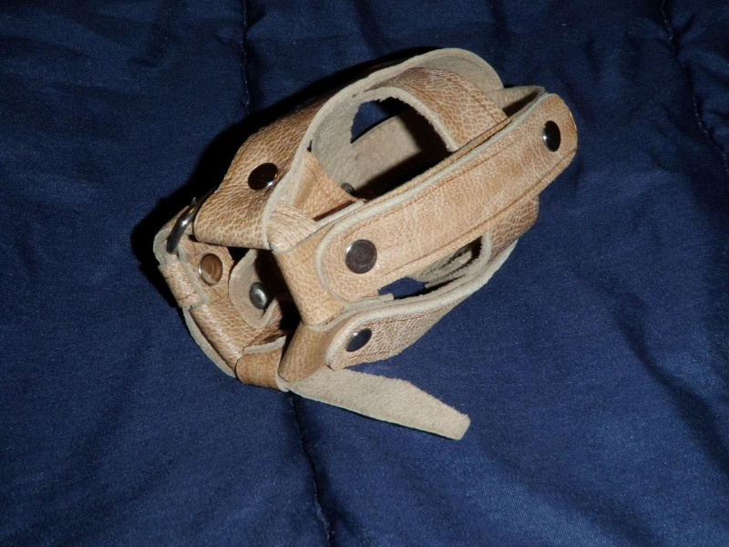 Afghan made leather sling and grenade carrier August12