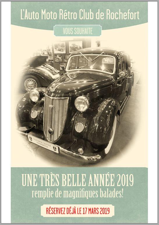 Vœux de Jean-Bernard, et annonce de la 1ère balade 2019!  Rochef10