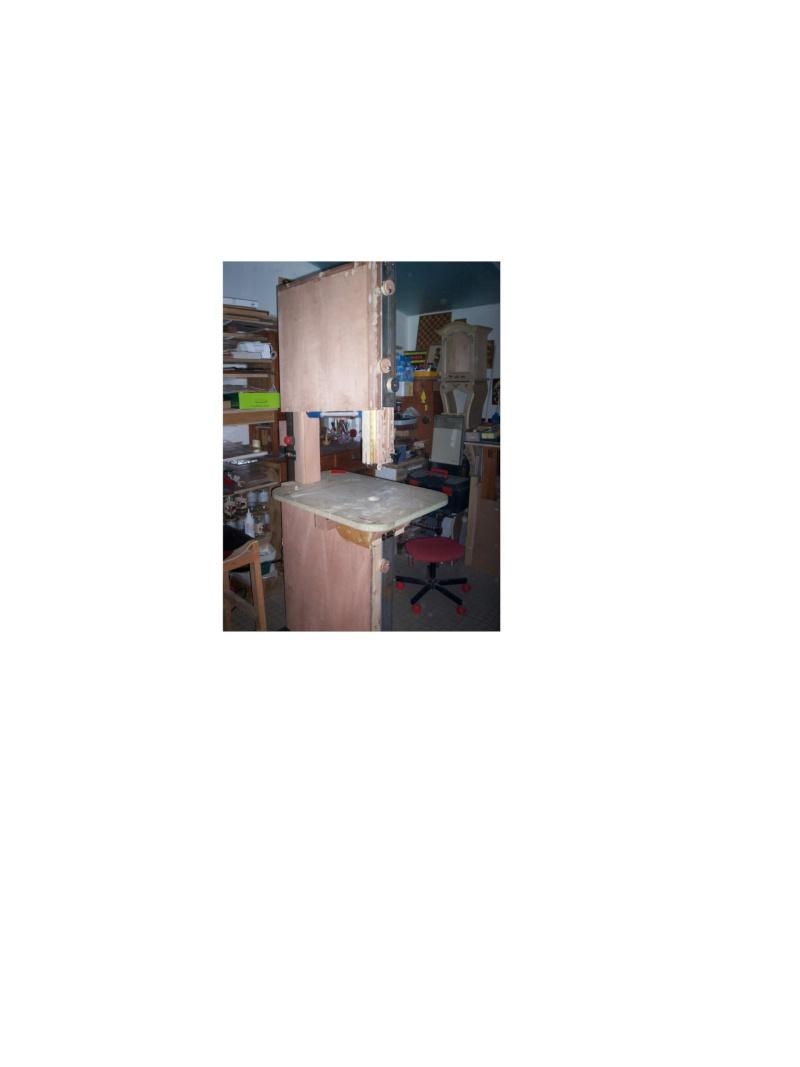 les détails de fabrication de ma scie à ruban Enduit10