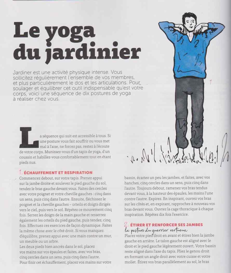 le yoga du jardinier 136