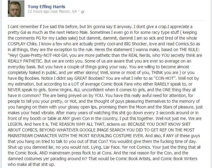 Tony Harris anti-WOMAN Cosplay Rant Tony_h12
