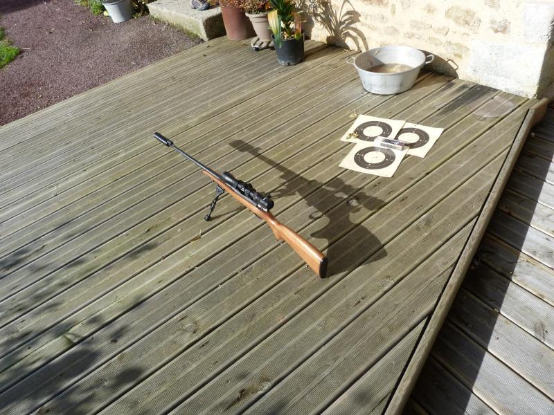 Mes deux carabine , cz 452 luxe et ma carabine à plomb P1050610