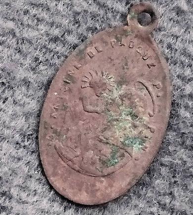 Medaille miraculeuse /st antoine de padoue XIX eme Captur10
