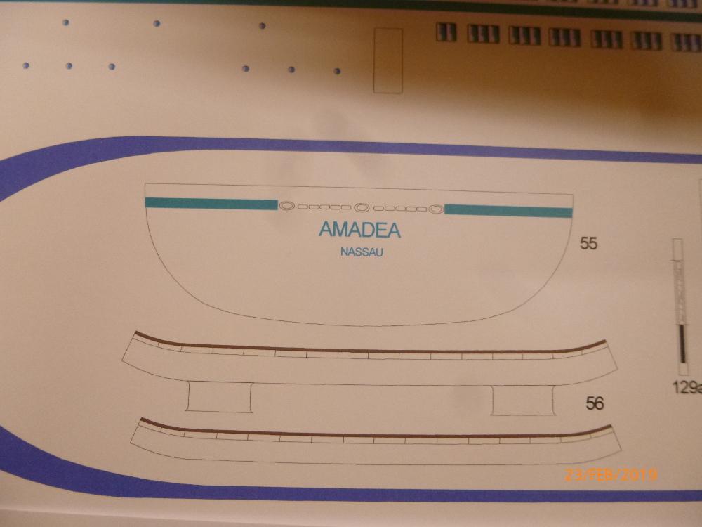 MS Amadea (ZDF Traumschiff) VK Design 1:250 Probebau von Millpet P1100613