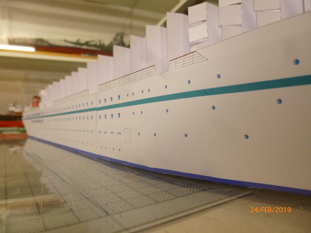 MS Amadea (ZDF Traumschiff) VK Design 1:250 Probebau von Millpet P1100617