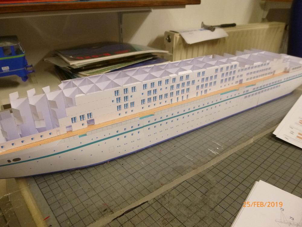 MS Amadea (ZDF Traumschiff) VK Design 1:250 Probebau von Millpet P1100620