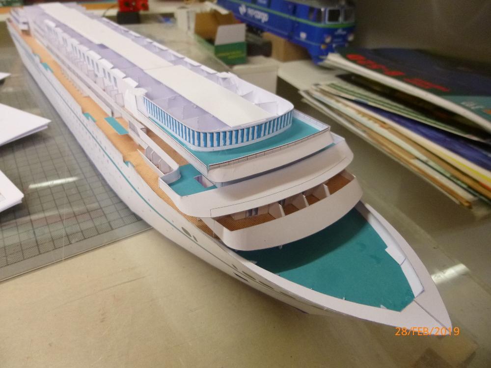 MS Amadea (ZDF Traumschiff) VK Design 1:250 Probebau von Millpet P1100621