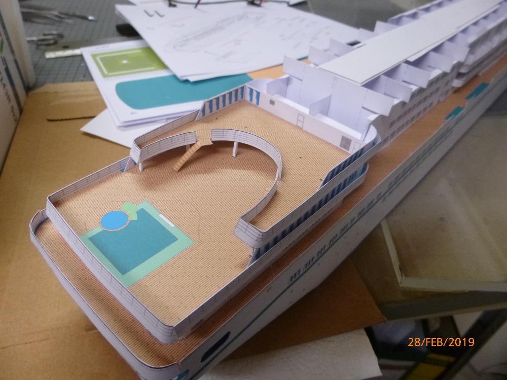 MS Amadea (ZDF Traumschiff) VK Design 1:250 Probebau von Millpet P1100622